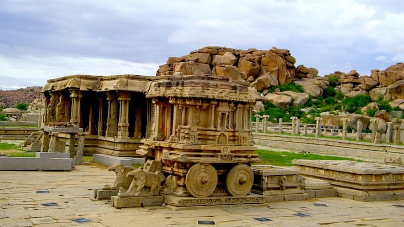 Hampi is a great place for experiential tourism. 5 Senses Tours organizes guided motorcycle tours to Hampi.