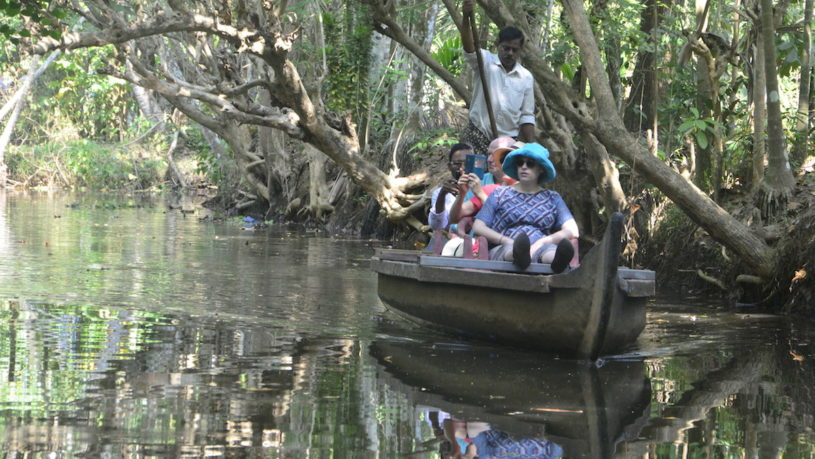 Canal exploration during Cultural tours in Kerala from Kochi